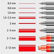 Folienschreiber Universalstift,  M, WF, rot, 10 St.