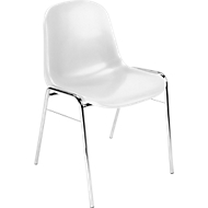 Formschalenstuhl Beta, stapelbar, desinfektionsmittelbeständig, Sitzhöhe 460 mm, weiß