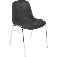 Formschalenstuhl Beta, stapelbar, Sitzhöhe 460 mm, anthrazit