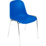 Formschalenstuhl Beta, stapelbar, Sitzhöhe 460 mm, blau