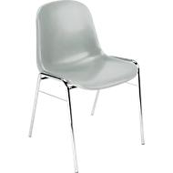 Formschalenstuhl Beta, stapelbar, Sitzhöhe 460 mm, grau