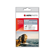 Fotopapier AgfaPhoto Silver Premium Glossy, 100 Blatt, 10 x 15 cm, hochglänzend