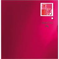Franken Glas-Schreibtafel GT353501, magnethaftend, rot, 350 x 350 mm