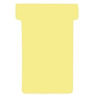 FRANKEN T-kaarten, voor insteekbord, maat 1, geel
