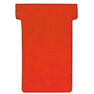 FRANKEN T-kaarten, voor insteekbord, maat 1, rood