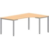 Freiformtisch NEVADA, B 1800 x T 1200/800 x H 720 mm, Buche-Dekor