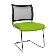 Freischwinger SEAT POINT, Netz, ohne Armlehnen, stapelbar, im 2er-Set, grün