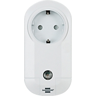 Funksteckdose Brennenstuhl, weiß, Fernsteuerung von Elektrogeräten, 100m Reichweite