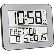 Funkuhr Time Line MAX, silber/schwarz