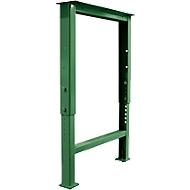 Fußgestell für Arbeitsplatte, höhenverstellbar, T 665 mm, grün