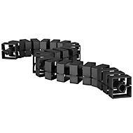 Gaine pour câbles Quadro, L. 750 mm, noir, pièce