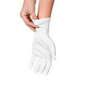 Gants en coton, blanc, par 12, taille M