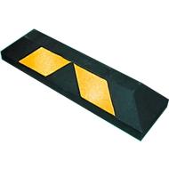 Garage- en parkeerstop, L 900 x B 150 x H 100 mm, van gerecycleerd rubber