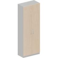 Garderobekast TETRIS SOLID, 6 ordnerhoogten, B 800 x D 421 x H 2239 mm, esdoornpatroon/blank aluminium