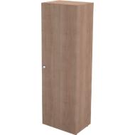 Garderobekast TETRIS WALL, 1 legbord, deuraanslag rechts, B 600 x D 440 x H 1880 mm, kersen-Romana-patroon