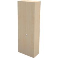 Garderobekast TETRIS WALL, 2 legborden, deuraanslag rechts, B 800 x D 440 x H 2250 mm, esdoornpatroon