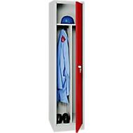 Garderobenschrank 1 Tür l'grau/rot (VH)