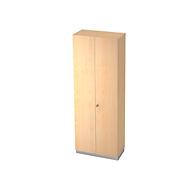 Garderobenschrank, 2 Ablagen, B 800 x T 420 mm, Ahorn-Dekor