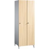 Garderobenschrank Serial, 2 Abteile, B 800, Ahorn-Dekor/weißalu