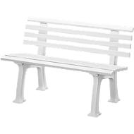 Gartenbank, 2-Sitzer, L 1200 mm, weiß