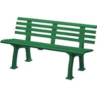 Gartenbank, 3-Sitzer, L 1500 mm, grün