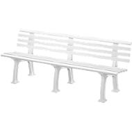 Gartenbank, 4-Sitzer, L 2000 mm, weiß