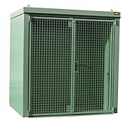 Gasflaschencontainer BAUER GFC-B M2, B 1570 x T 2125 x H 2265, für 35 Gasflaschen, feuerbeständig, abschließbar, grün