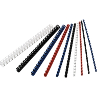 GBC® Binderücken, Plastik, Ø 6 mm, 100 Stück, weiß