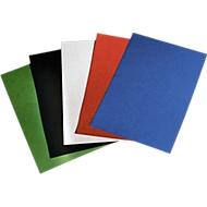 GBC couverture carton 250 g/m², façon grain cuir, blanc
