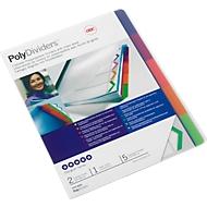 GBC gekleurde PP-indexbladen met tabs, 5 bladen,