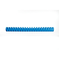 GBC® inbindruggen, plastic, Ø 22 mm, 100 stuks, blauw