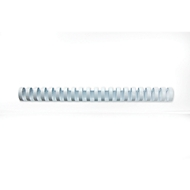 GBC® inbindruggen, plastic, Ø 22 mm, 100 stuks, wit
