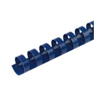 GBC® inbindruggen, plastic, Ø 6 mm, 100 stuks, blauw