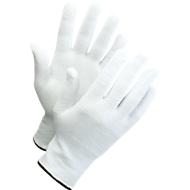 Gebreide handschoenen met noppen Worksafe L71-720, CE Cat 1, katoen/spandex, maat 8-9, wit, 12 paar