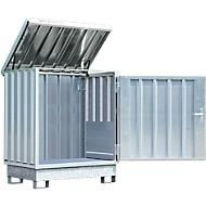 Gefahrstoffdepot Safe Master, Typ SM 2, Kapazität 2 x 200 l Fässer stehend, WGK 1-3, verzinkt