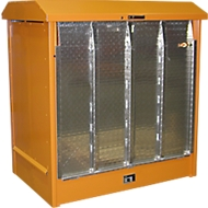 Gefahrstoffdepot Typ GD-N/R2, orange RAL2000