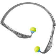 Gehoorbeschermingsbeugel uvex x-fold, SNR 23 dB, EN 352-1, opvouwbaar, ergonomisch, grijs-blauw-neonlimoen, 5 stuks