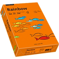 Gekleurd kopieerpapier Mondi Rainbow, A4, 160 g/m², intens oranje, 1 pak = 250 vellen