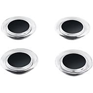 Gekleurde design-magneten, 4 st., zwart