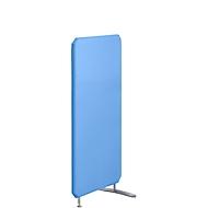 Geluidsisolerende-scheidingswanden, b 800 x h 1400 mm, fel blauw