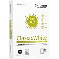 Gerecycleerd papier Steinbeis ClassicWhite, A4, 80 g/m², krantwit, 1 doos = 10 x 500 vellen