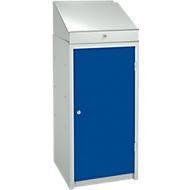 Gereedschapskast, met opzetstuk voor lessenaar, lichtgrijs/blauw