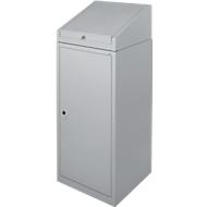 Gereedschapskast met schrijftafel, draaideur, 2 legborden, 1 lade, B 500 x D 500 x H 1200 mm, afsluitbaar, wit aluminium