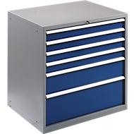 Gereedschapskast WSK 5410-6E, 6 schuifladen, 1000 mm hoog