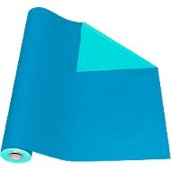 Geschenkpapier blauw/turquoise, rol L 50 m x B 500 mm, bruikbaar aan beide zijden
