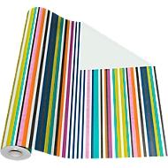 Geschenkpapier bunte Streifen, Rolle L 50 m x B 500 mm