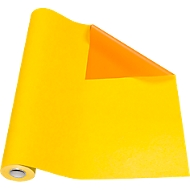 Geschenkpapier gelb/orange, Rolle L 50 m x B 500 mm, beidseitig verwendbar