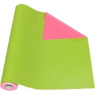 Geschenkpapier grün/pink, Rolle L 50 m x B 500 mm, beidseitig verwendbar