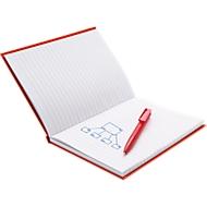 Geschenkset Notizbuch m. Stift, rot