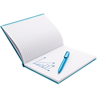 Geschenkset Notizbuch m. Stift, türkis